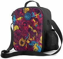 Trippy Flowers Upgrade Lunch Tote Box, Cool Tiger