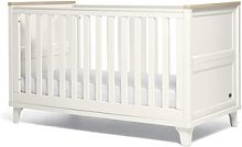 Trista Baby Cot Bed - White/Oak Effect