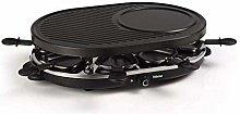 Tristar Raclette 8 Pans-Grill Plate with Crepe Par