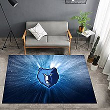 Tritow Grizzlies NBA Living Room Carpets USA