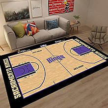 Tritow USA Basketball NBA Carpet Non-Slip Purple