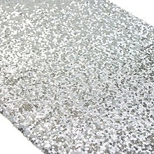 TRLYC 12 by 108-Inch Silver Sequin Table Runner