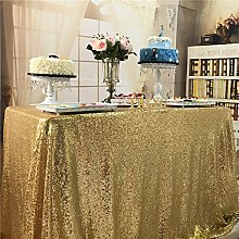 "TRLYC 48""*72"" Sparkly Gold Square Sequins"