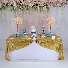 "TRLYC 50""*72"" Sparkly Wedding Gold Table"