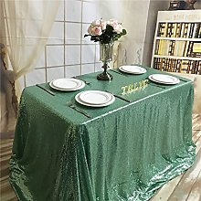 "TRLYC 50""*85"" Mint Sequin Table Cloth for"