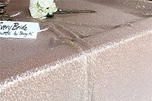 TRLYC 60x120inch Christmas Champagne Sequin Table