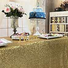 TRLYC 70 x 108 -Inch Gold Rectangle Sequin