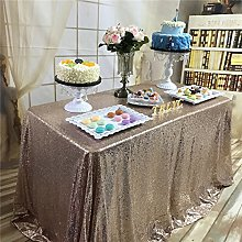TRLYC 70 x 108 -Inch Rose Gold Rectangle Sequin