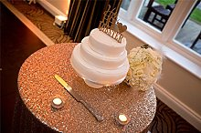 TRLYC Christmas Gold Sequin Table Cloth for