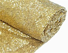 TRLYC Christmas Light Gold Sequin Table Cloth for