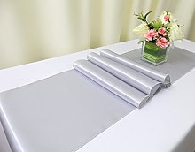 TRLYC Pack of 4 12x108 inches Silver Satin Table