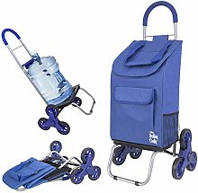 Trolley Dolly Stair Climber, Blue Foldable Cart