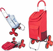 Trolley Dolly Stair Climber, Red Foldable Cart