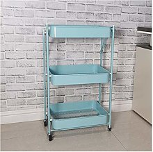 Trolley Foldable Kitchen Shelf Multifunctional