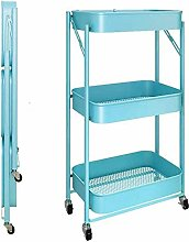 Trolley Kitchen Storage Cart Folding With Wheels