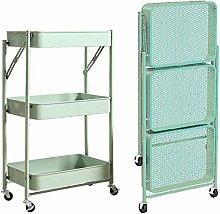 Trolley Kitchen Storage Cart Folding With Wheels