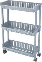 Trolley Storage Cart on Casters for Bathroom