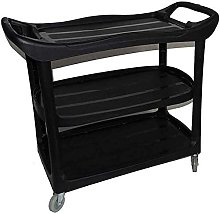 Trolleys,Black Catering Rolling Cart For