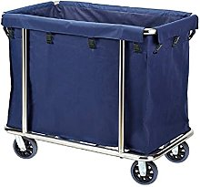 Trolleys,Wheeled Laundry Cart, Stainless Steel