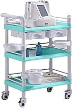 Trolleys,With Dirt Bucket; Drawers, Utility Cart