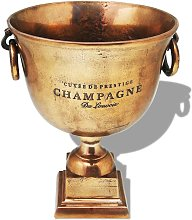 Trophy Cup Champagne Cooler Copper Brown - Brown -