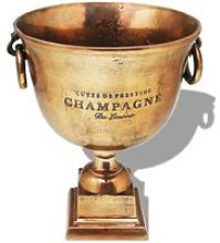 Trophy Cup Champagne Cooler Copper Brown - Hommoo
