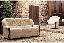 Tropic 3+1+1 Genuine Reclining Manual Italian Sofa