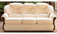 Tropic 3 Seater Italian Leather Sofa Settee Hielo