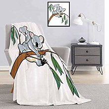 Tropical Animals Bedding flannel blanket Mother