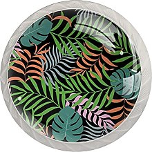 Tropical Background with Palm Leaves, Cabinet Knob