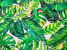 TROPICAL BANANA LEAVES Palm Leaf Fabric Curtain