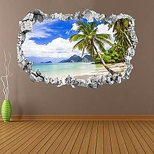 Tropical Beach Palm Tree Wall Stickers Mural Decal