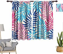 Tropical Decor Window Curtains, Exotic Pattern