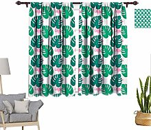 Tropical Decor Window Curtains, Trendy Pattern