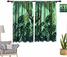 Tropical Decor Window Curtains, Tropical Pattern