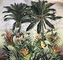 Tropical Fabric Panel of 120 cm Palm Trees Birds