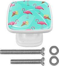 Tropical Flamingo Ice Cream Blue Color Cabinet
