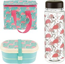 Tropical Flamingo Lunch Bag Set Sass and Belle