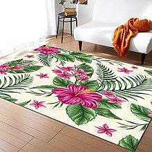 Tropical Flowers Carpet for Living Room Home