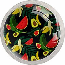 Tropical Fruits Cabinet Knobs Knobs for Kitchen