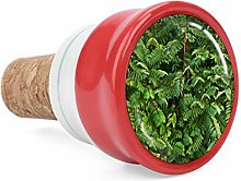 Tropical Green Plants Leaves Forest Wine Cork Wine