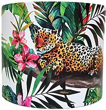 Tropical Jungle Animals Leopard Lampshade for