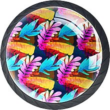 Tropical Leaf Knobs for Dresser Drawers Decorative