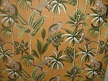 Tropical Monkey Botanical 100% Cotton Curtain