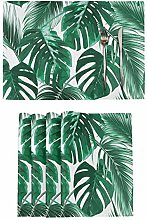 Tropical Palm Leaves Placemats Tables Mats Set of