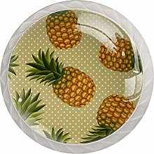 Tropical Pineapple Pattern Drawer Knobs Pulls