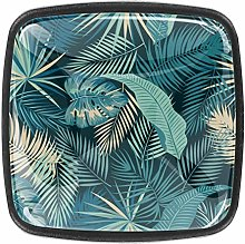 Tropical Plant Leaves Pattern Crystal Drawer