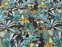 Tropical Rainforest Blue Cotton Blend Curtain