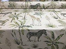 Tropical Safari Linen 140cm Curtain Fabric