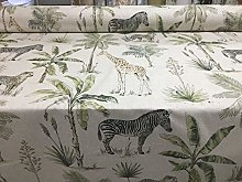 Tropical Safari Linen 140cm Curtain Fabric